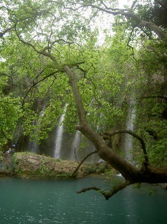 Kursunlu Waterfalls: Wasserfälle von leichter Erhöhung aus