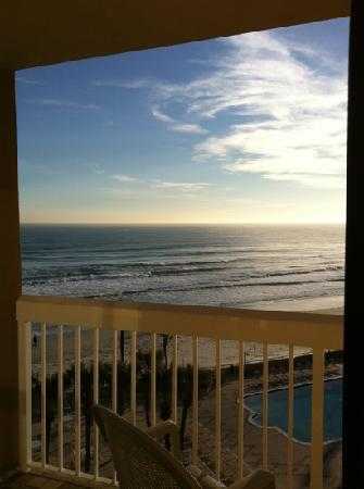 Holiday Inn Hotel & Suites Daytona Beach: view from bed out to balcony