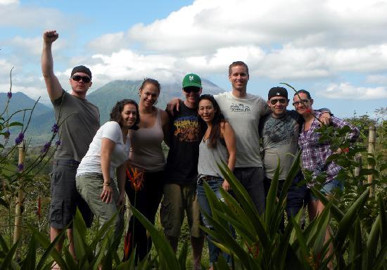 Leaves and Lizards Arenal Volcano Cabin Retreat: Our group!