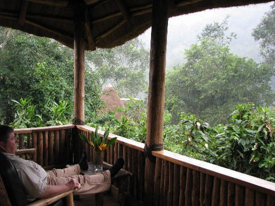 Bwindi Lodge: From the porch of our cottage
