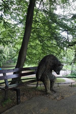 Maastricht, The Netherlands: A lonely bear at Aldenhof Park