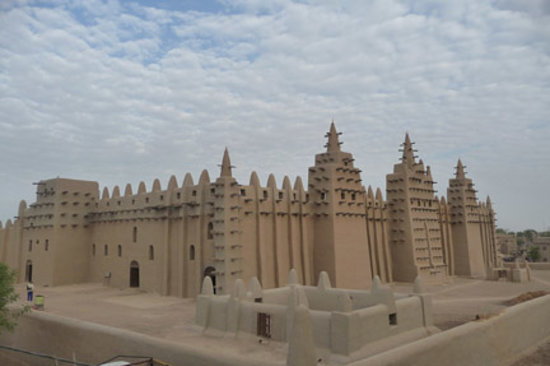 Djenne, มาลี: Grand Mosque from Rooftop
