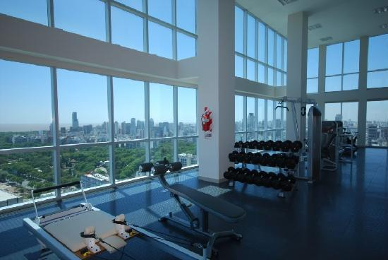 Buenos Aires Gay Bed and Breakfast: 31st Floor Gymnasium with great views