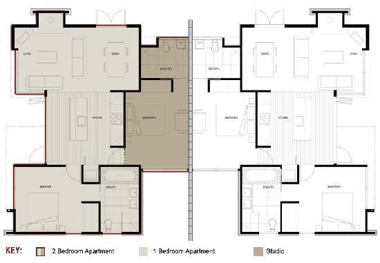 ذا فيرويز أبارتمنتس: Apartment and Studio floor plan