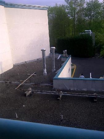 """DoubleTree Suites by Hilton Hotel Mt. Laurel: the """"view"""" from the balcony of room 335"""