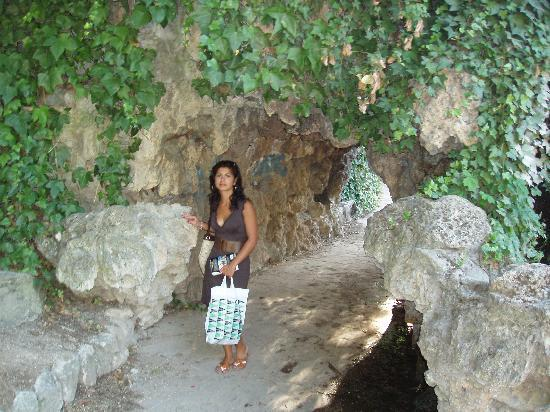 Arco della cascata laghetto antistante palacio de for Cascata laghetto