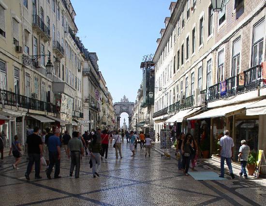 Praca do Comercio (Terreiro do Paco): Der Weg von baixa zum Platz