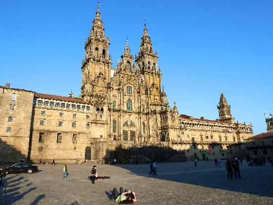 Santiago de Compostela, Espanha: Kathedrale an Nachmittag