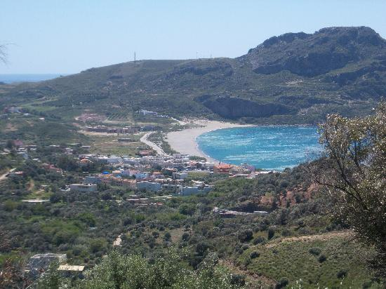 Hotel Irida Plakias: PLAKIAS FROM SELLIA VILLAGE