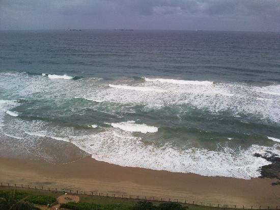 uMhlanga Sands Resort: The beach from our room.