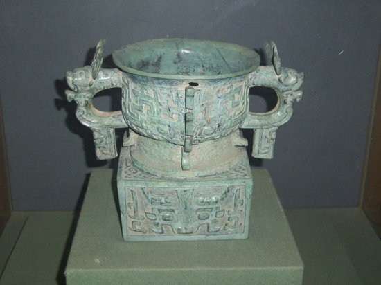 Baoji Bronze Ware Museum: Just one of the many bronze artifacts unearthed in the Baoji area.