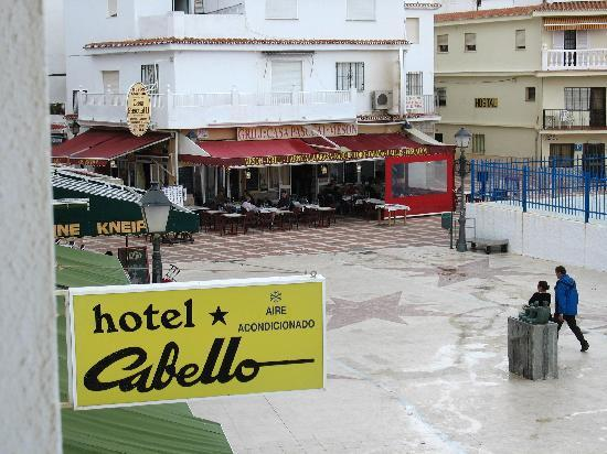 Hotel Cabello: view from our window