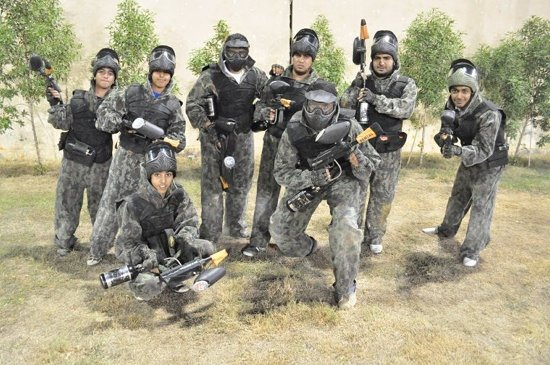 1st Paintball: one of the teams