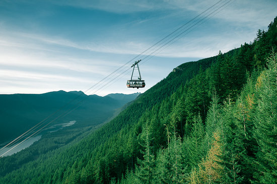 North Vancouver, Kanada: Red Skyride at Grouse Mountain
