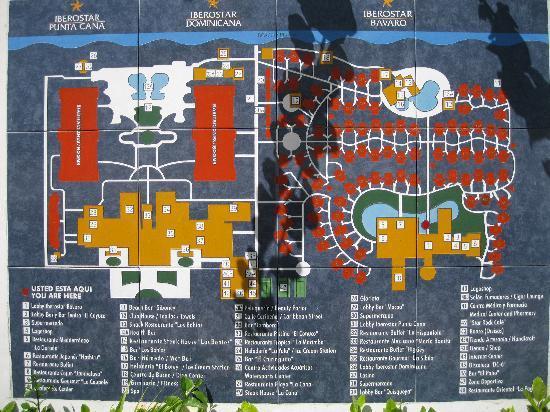 Iberostar Dominicana Hotel: Mapa do resort-3 hoteis