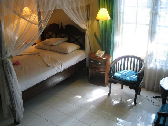 "Puri Saron Senggigi Beach Hotel: My ""superior"" room with a/c and small TV"