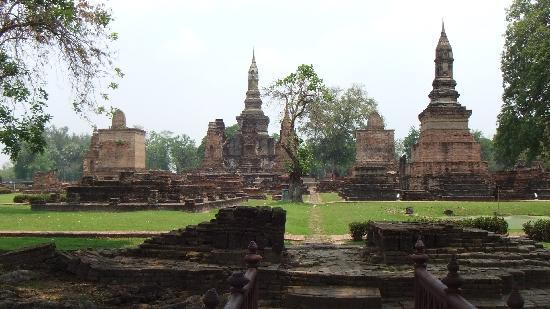 Sukhothai, Tajlandia: Ancient city view