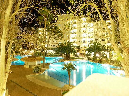 IBEROSTAR Alcudia Park: view from our balcony at night