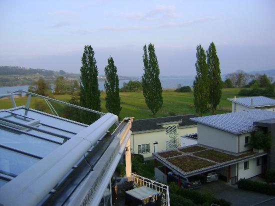 Sursee, Switzerland: Ausblick aus dem Hotelzimmer