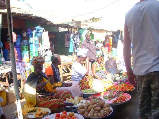 Brufut, Gambia: Street Market