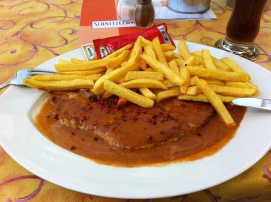 Schnitzelwirt : Pfefferrahmschnitzel