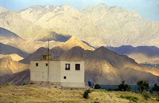 Jabal Saraj, Afghanistan: •	1Radio Solh is the last human-made structure before Hindu Kush
