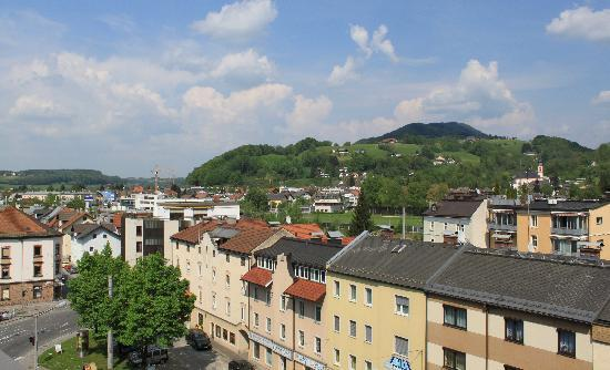 MEININGER Hotel Salzburg City Center: The view from our room terrace
