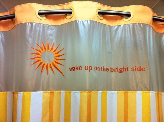 King suite bright shower curtain detail - Picture of La Quinta Inn ...