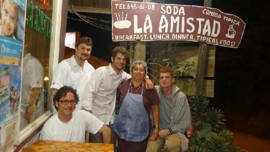 Hotel Sloth Backpackers Bed & Breakfast: The best Restaurant Soda La Amistad