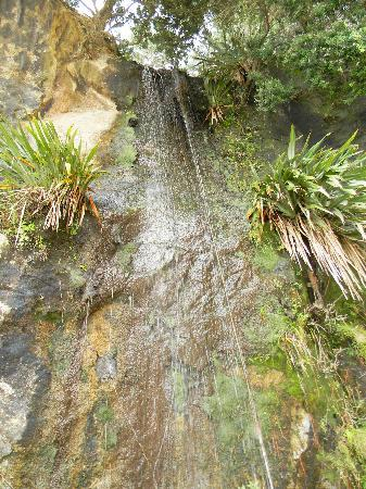 Cathedral Court: Waterfall at Cathedral Cove