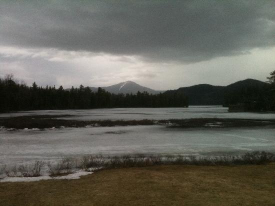 Placid Bay Inn: View of Lake Placid -- even more pretty in Summer