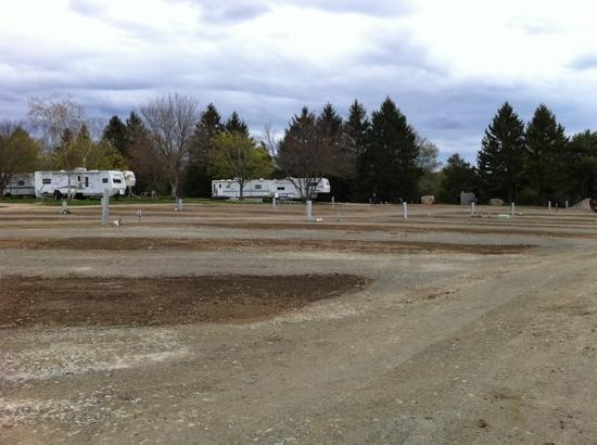 Mystic KOA: site construction April 2011