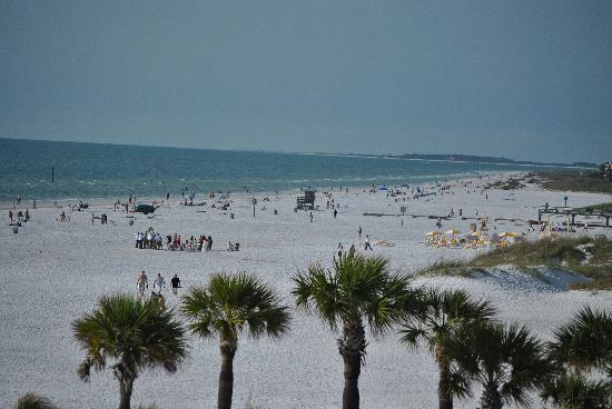Hilton Clearwater Beach: Awesome beach - view from our balcony