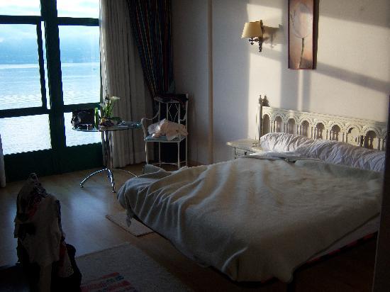 Hotel Stellamaris: Habitación (un poco deshecha) del hotel Stella Maris.