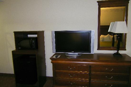 Country Inn & Suites By Carlson, Potomac Mills Woodbridge, VA: Micro/ fridge and flatscreen