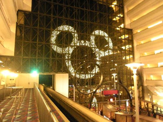 Disney's Contemporary Resort: Giant Mickey Christmas wreath