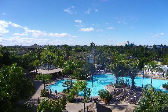 Loews Royal Pacific Resort at Universal Orlando : Pool below...too cold