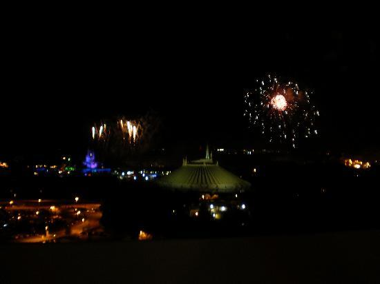 Bay Lake Tower at Disney's Contemporary Resort: View of firework show