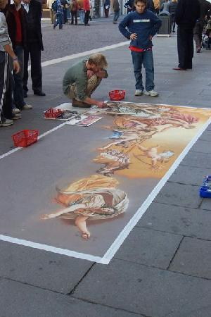 Padua, Italia: Sand Art