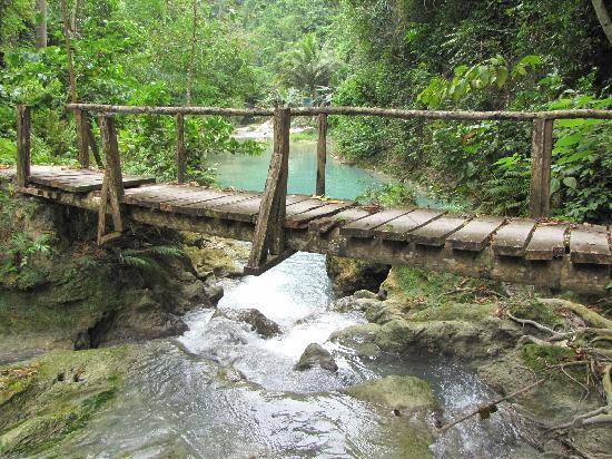 Moalboal, Filipinler: a bridge that not for walking