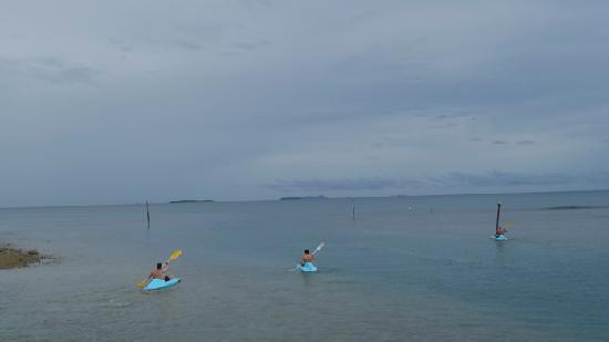 First Landing Beach Resort & Villas : The Boys off on the Kayaks