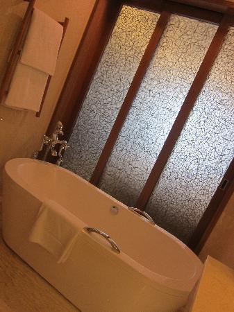 Sliding doors of bathroom/bedroom