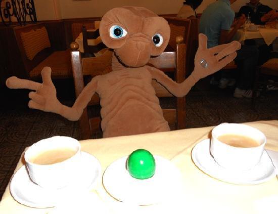 Hotel-Pension Alderhof: E.T. lives in the breakfast room.