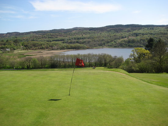 Tarbert, UK: View from 3rd green.