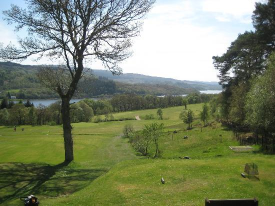 Tarbert Golf Club: Looking back to the 4th and 6th greens.