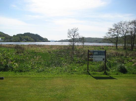 Tarbert Golf Club: West Loch Tarbert from the first.