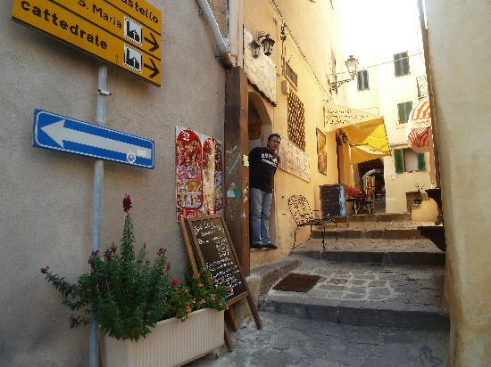 Castelsardo, Italy: narrow way in the old town