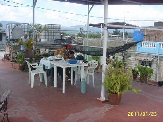 Casa particular Jorge y Mirtha: Dachterasse zum Frühstücken mit Hängematte