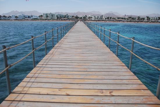 Kite Junkies: The beach seen from a foot bridge
