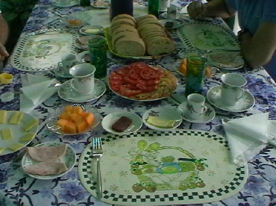 Casa de Pipa y Manuel: colazione in terrazza